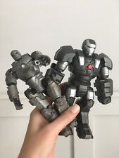 """Set Of 2 Iron Man Figures Mark 1 & Talking Silver Suit 2008 2010 Articulated 7"""""""