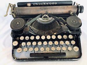 Vintage Underwood Portable Typewriter 1915 Pat Under Gubel Mann Needs Cleaning
