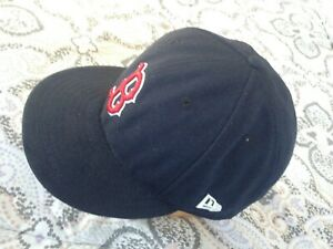 """""""New Era 59 Fifty"""" New Black """"Boston Red Sox"""" Logo 7 5/8 """"Official On-Field"""" Cap"""