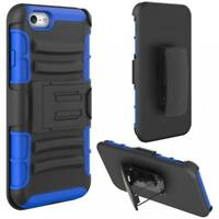 iPHONE 6 6S - SHOCKPROOF HEAVY DUTY CASE BELT CLIP HOLSTER DEFENDER HYBRID COVER