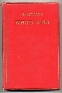 Who's who in Occultism New Thought Psychism and Spiritualism Hartmann Hartman's