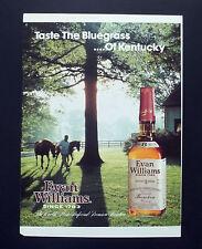 F158 - Advertising Pubblicità - 1992 - EVAN WILLIAMS  WHISKEY