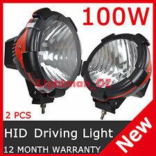 "2 PCS 100W 9"" HID XENON DRIVING LIGHT FLOOD BEAM OFF ROAD LAMP OFFROAD 9 Inch"