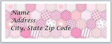 Personalized Address labels Polka Dots Hexagonal Buy 3 get 1 Free (pd 1)