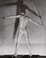 1943/81 Vintage MALE NUDE Man Butt Duotone Photo Art 16x20 By GEORGE PLATT LYNES