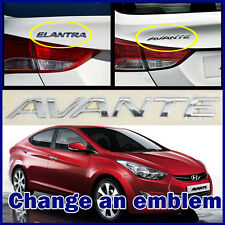 Elantra Hyundai Avante Genuine Emblem Trunk Logo Korea Parts Chrome Rear OEM NEW