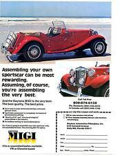 1953 MG-TD REPLICA  ~  ORIGINAL DAYTONA MIGI PRINT AD