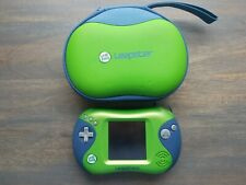 LeapFrog Leapster 2 Green Handheld Game Kids Learning w/ Carrying Case *Tested*