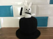 Magicians Hat with Bunny Knitted Toilet Roll Cover.