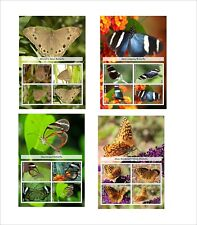 BUTTERFLIES 2013 INSECT BUGS 8 SOUVENIR SHEETS MNH UNPERFORATED PAPILLONS