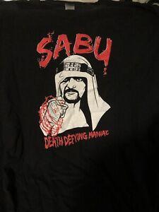 ECW Sabu Death Defying Maniac T Shirt 4XL