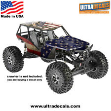 USA Flag Axial Wraith Body Skin Decal Wrap Sticker 3M Ultradecal American