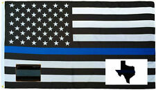 Wholesale 3x5 Police USA Flag Decal Sticker Thin Blue Line Lapel Pin Set 2