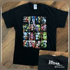 TNA Jeff Hardy T Shirt Size Medium BLACK | Wrestling Inigma Nero 10 Years Of TNA