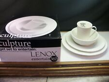 Lenox Entertain 365 SCULPTURE Mixed Round 4 Piece Place Setting NIB Item 4162