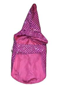 Dog Raincoat Size M/L pink polka dot Great condition