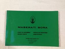Maserati Bora Spare Parts Manual - Parti Di Ricambio - ORIGINAL