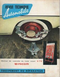 REVUE TECHNIQUE AUTOMOBILE 188 BIS RTA 1961 MERCEDES 190 SL MERCEDES 180 a 190