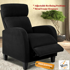 Reclining Sofa Chair Linen Fabric Armchair Adjustable Recliner Seat Lazy Boy NEW