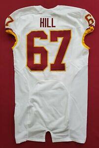 #67 Hill of Washington Redskins NFL Locker Room Game Issued Jersey