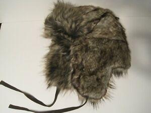 STETSON faux fur BOMBER TRAPPER CAP hat large