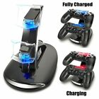 Black Dual USB Charging Dock Station Stand for PS4 Controller