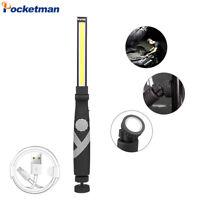 Super Bright 80000LM COB LED Flashlight USB Rechargeable Magnetic Work Light