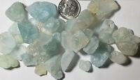150+carats Lot Natural Blue Topaz Rough Crystals 100% Earth Mined Pakistan
