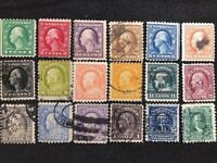 us stamps scott 462 480 Complete Set 1916-1917 Perf 10 Mixed