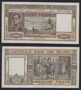 Belgio 100 francs 2.3.1949 SPL/XF  A-10