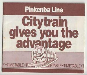 1987 PINKENBA CITY LINE QUEENSLAND RAILWAYS ELECTRIC TRAIN PAPER TIMETABLE EXC!!