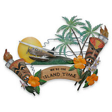 "WALL ART -  ""TROPICAL PARADISE"" WALL SCULPTURE - ISLAND STYLE - TIKI"
