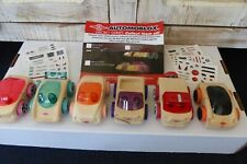 Lot of 6 Micro Automoblox Wooden Plastic Building Toy Cars PlayMonster VG Cond!