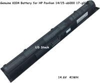 Genuine HP Pavilion 14 15 17 HSTNN-DB6T 800049-001HSTNN-LB6S KI04 Laptop Battery