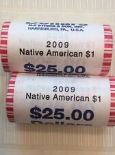 Two Rolls Of 25 $1 Sacagawea Native American Coins