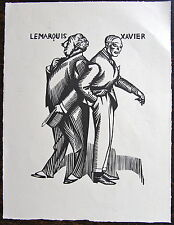 HERMANN PAUL, Le Marquis - Xavier, Les affaires sont les affaires , 1929, bois o