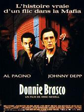 """Affiche 120 x 160 du film """"DONNIE BRASCO """" avec Al Pacino et Johnny Depp ."""