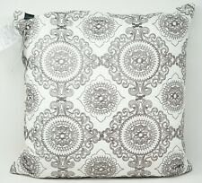 "Hallmart Collectibles Embroidered 20 X 20"" Square Decorative Pillow Gray"