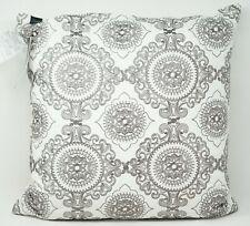 "Hallmart Collectibles (HMC) Medallion Embroidered 20"" Decorative Pillow - Gray"
