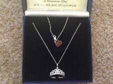 Diamonesk Bradford Exchange Royal Tiara Pendant Necklace NIB