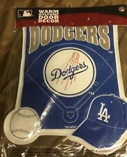 LA Dodgers Embroidered Logo Felt Warm Welcome Door / Decor Wall Banner