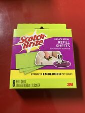 3M Scotch Fur Fighter Upholstery Refill Sheets Pet Hair Remover 8 Sheets In Box