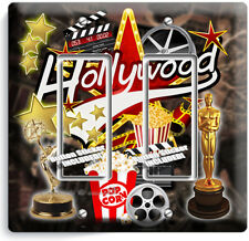 HOLLYWOOD TV ROOM MOVIE STARS THEATER 2 GANG GFCI LIGHT SWITCH PLATES HOME DECOR