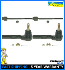 Set of 2 Front Inner and 2 Front Outer Tie Rod Ends Steering Set For Malibu G6