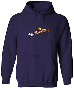 Unisex Pullover Sweatshirt Hoodie Sweater Gift Print Calvin Tiger Rub Scratch
