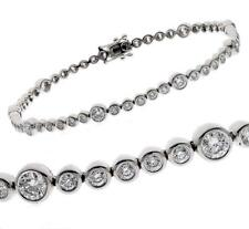 Diamond Tennis Bracelet: Certified 2.50ct F VS Round Brilliant, 18ct White Gold