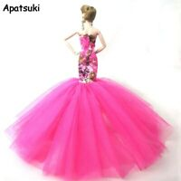 Fashion Mermaid Doll Clothes For Barbie Doll Fishtail Wedding Party Dress 1/6