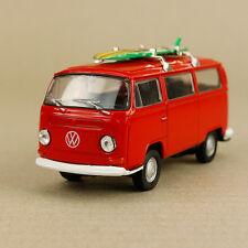 1971 T2 Volkswagen Kombi Van Microbus Minibus Campervan Red Hippy 1:32 Surfboard