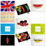 Glass Chopping Board Large Kitchen Cutting Food Serving Worktop Saver Protector