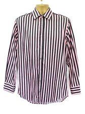 Paul Smith London Mens Pink & Blue Stripe Long Sleeve Classic Fit Shirt 15 38